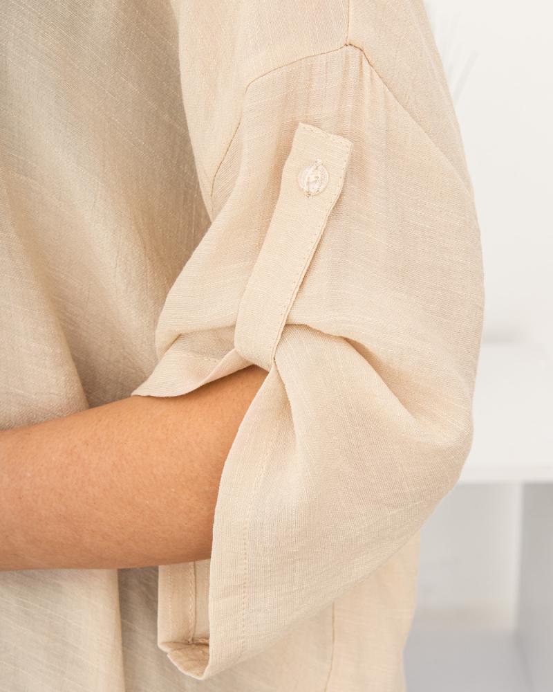 Блузка однотонна 50 - 56, колір: бежевий - 6