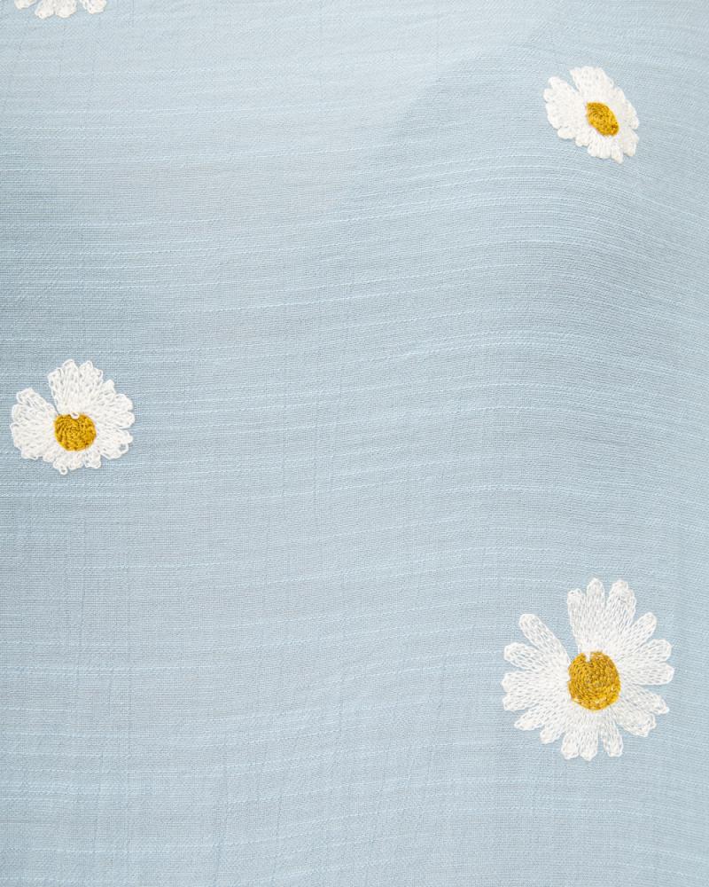 Блузка вишивка Ромашка 50 - 56, колір: блакитний - 6