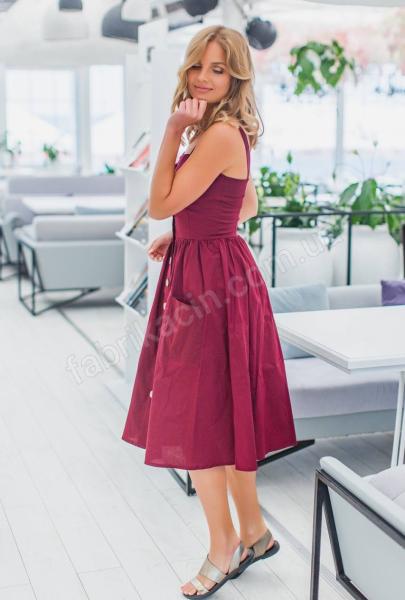 Сукня 2030 однотонна 1-4, колір: бордовий