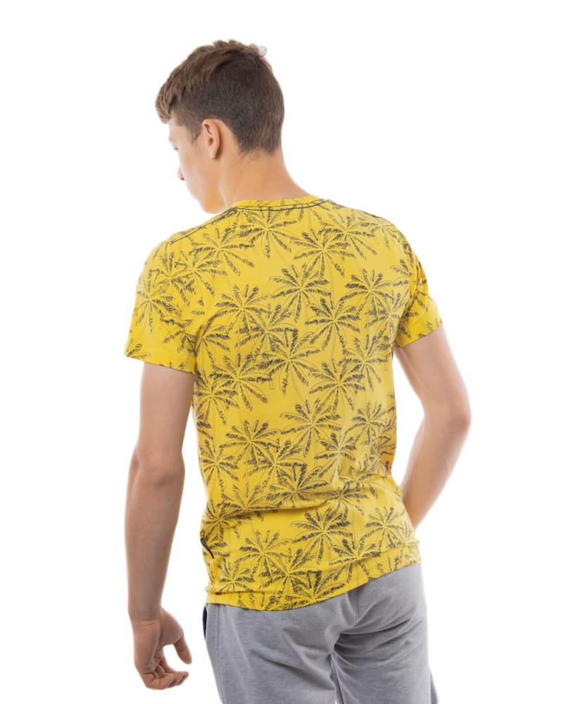 Футболка рисунок: Пальма 46 - 52 цвет: желтый - 3