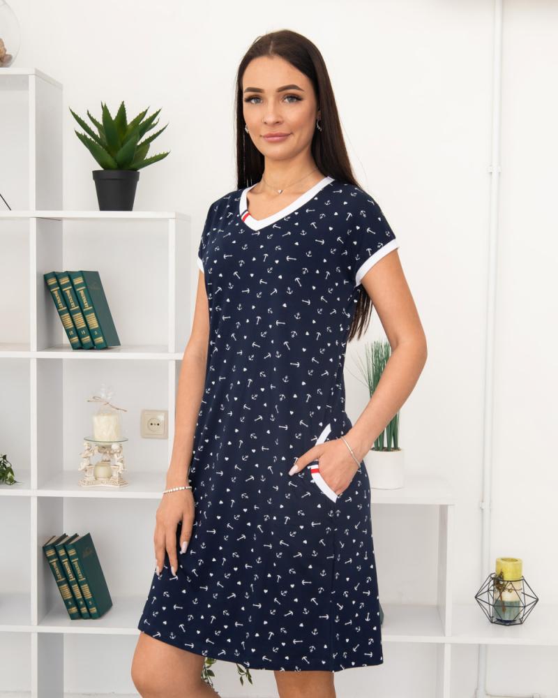 Платье Milvana Якорь, карманы 46-56, цвет: синий - 2