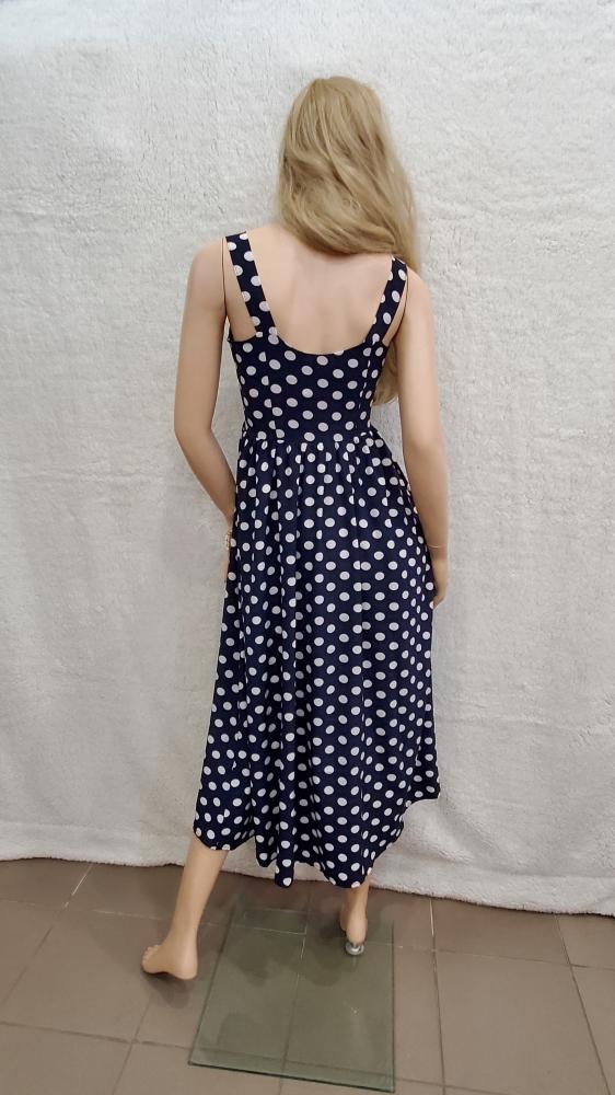 Сукня 9001 бретелька, застібка-гудзики 1-4, колір: синій - 3