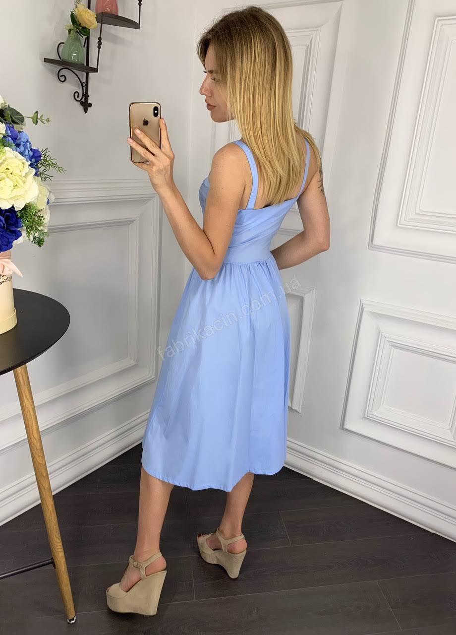 Сукня 2030 однотонна 1-4, колір: блакитний - 1