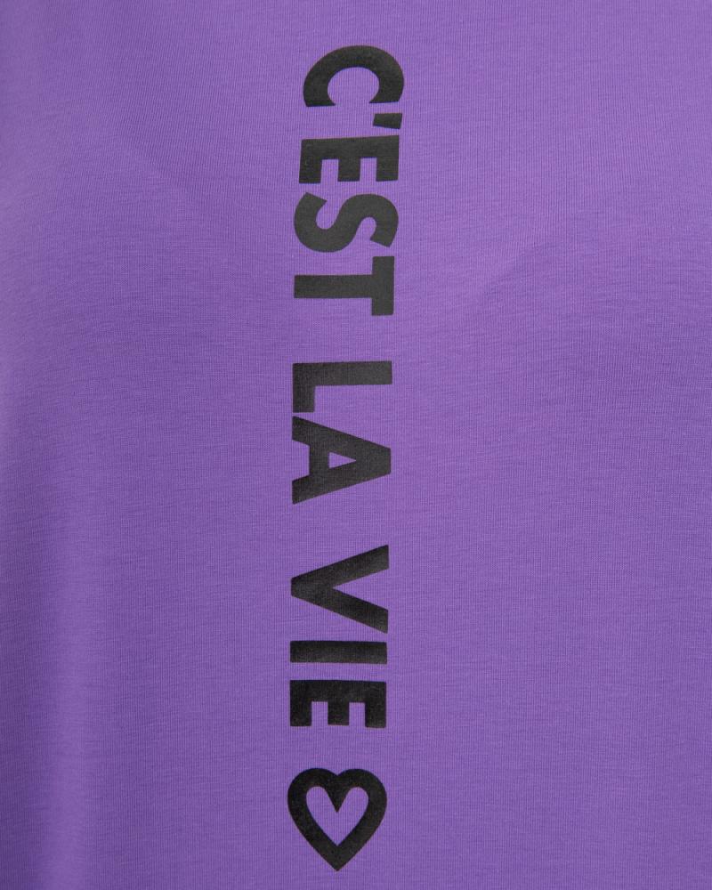 Футболка однотонна Vie серце р-р: S,M,L,,XL колір: бузковий - 4