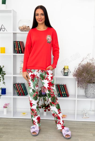 Кофта зі  штанами Пальма р-р: 46 - 56 колір: кораловий