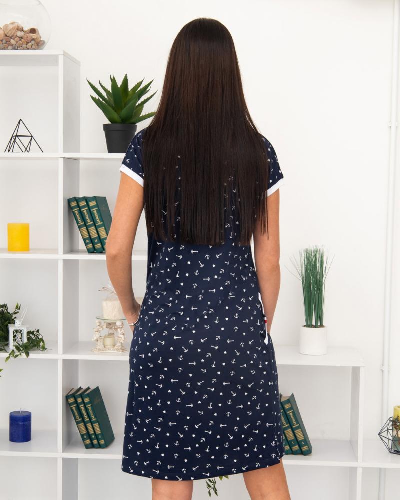 Сукня Milvana Якір, кишені 46-56, колір: синій - 4