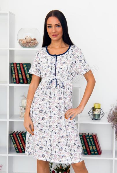 Ночна сорочка С925 зав'язка 48 - 58, колір: білий