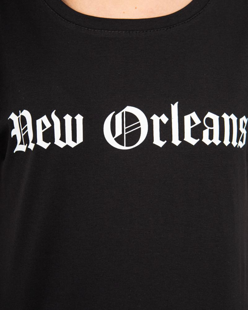 Футболка - топ New Orleans 42 - 46 цвет: черный - 4