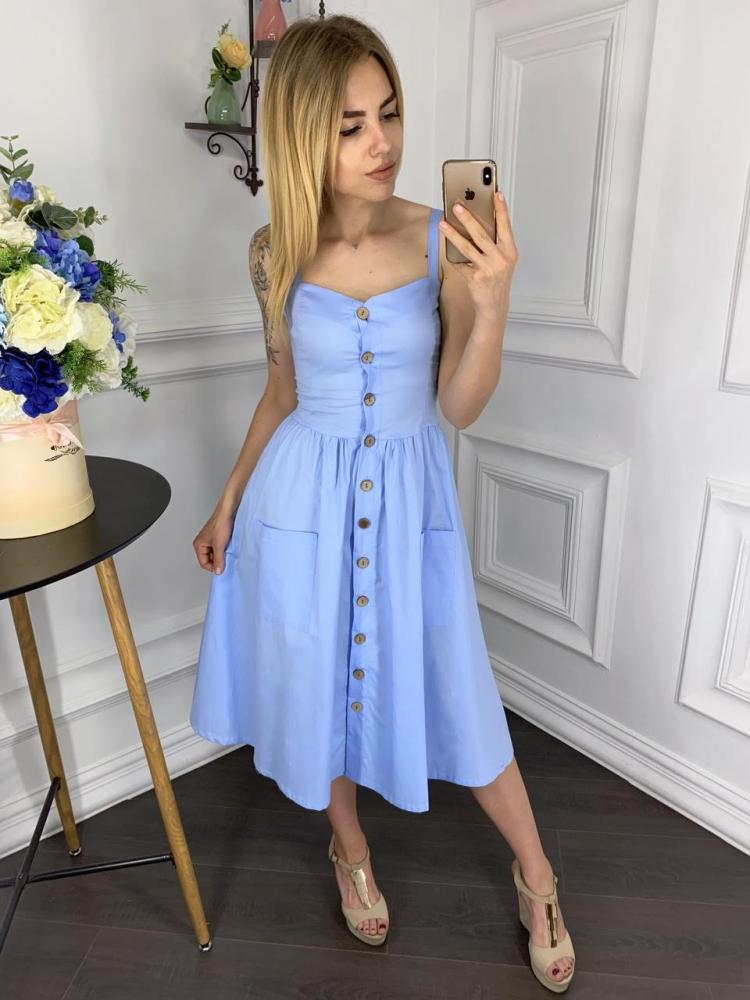 Сукня 2030 однотонна 1-4, колір: блакитний - 2