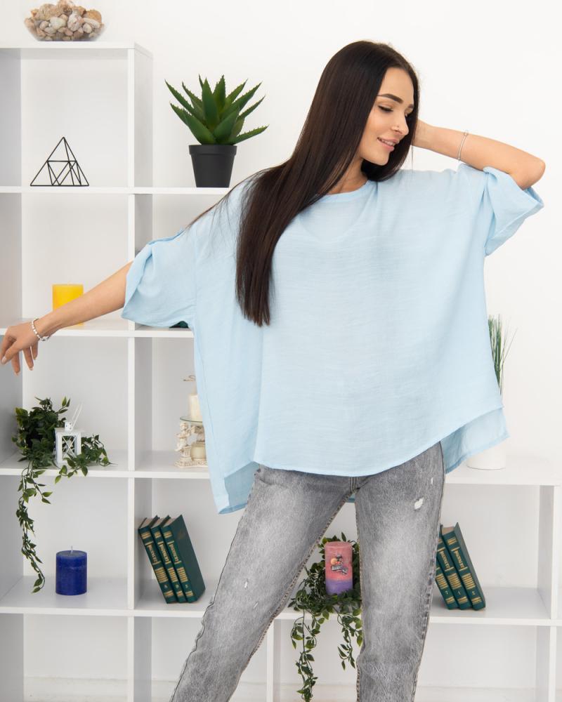 Блузка однотонна 50 - 56, колір: - 5
