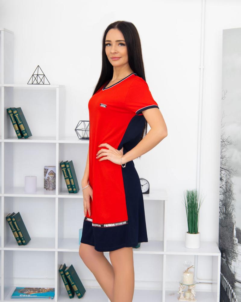 Сукня Fassion трикотажна, 100% бавовна 48 - 58, колір: червоний - 2