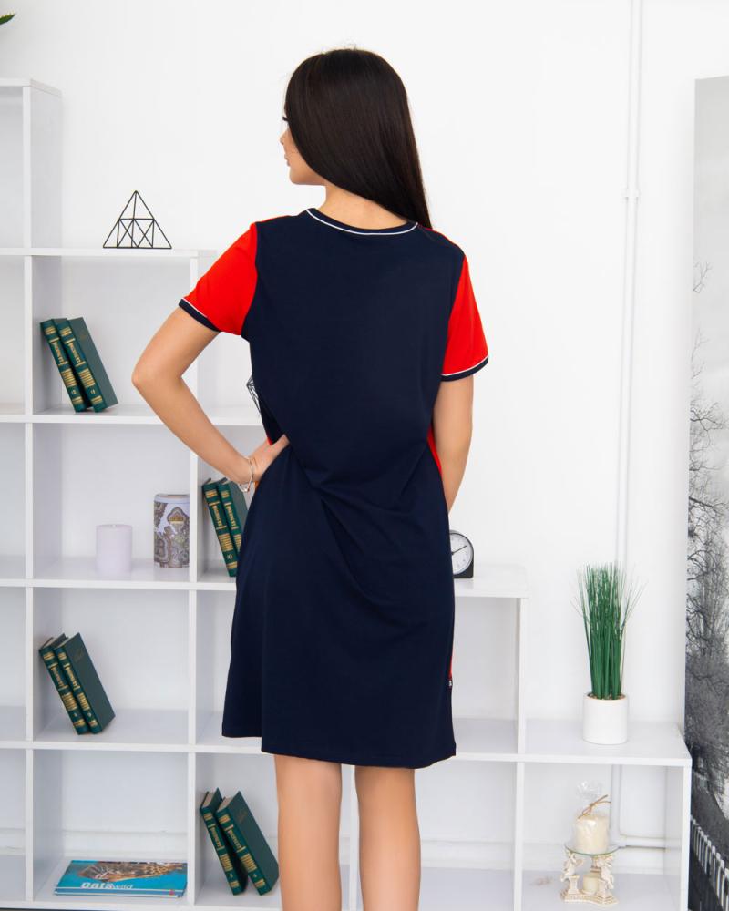Сукня Fassion трикотажна, 100% бавовна 48 - 58, колір: червоний - 3