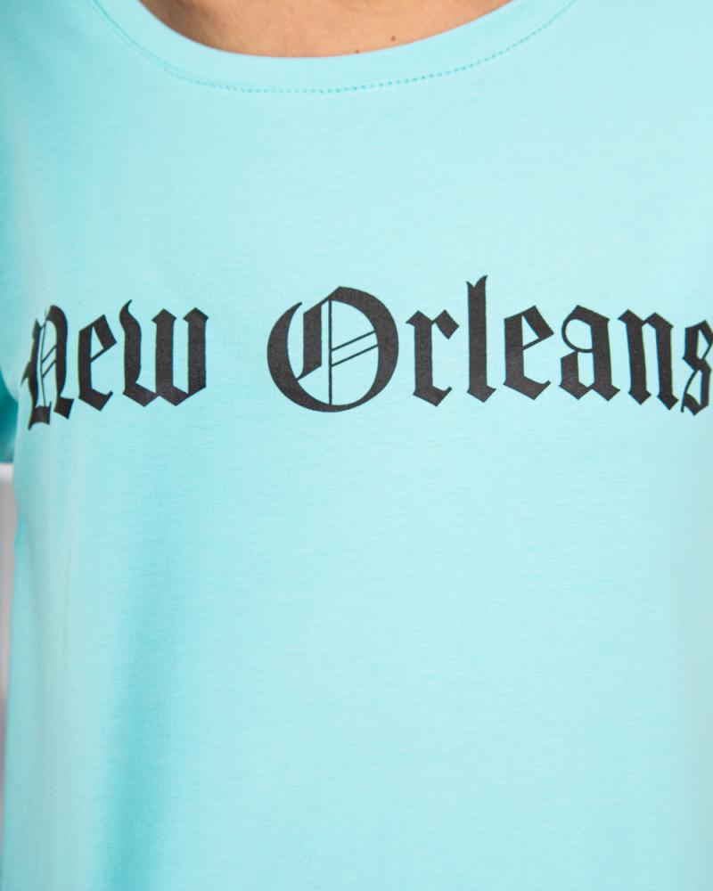 Футболка - топ New Orleans 42 - 46 колір: бірюзовий - 4