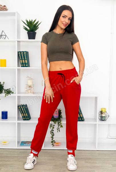 Брюки: Спортивные штаны UMO р-р: 50 - 58 цвет: красный