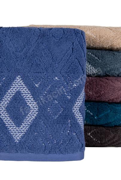 Рушник махровий купон ромб 45 х 90 колір: синій