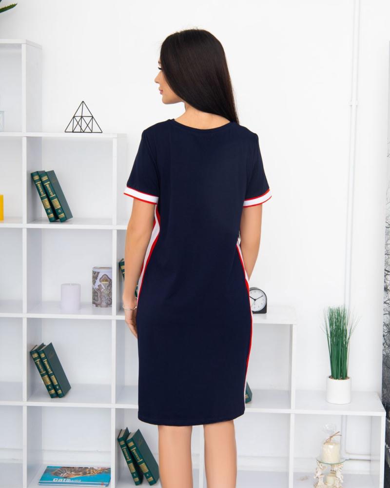 Сукня T326 Milana BEAUTY 48-58, колір: синій - 5