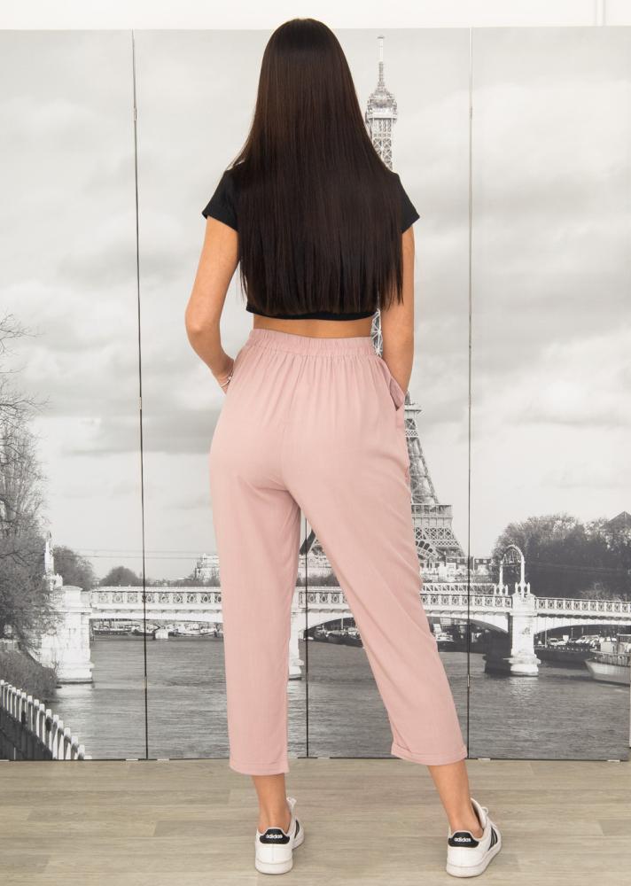 Штани 003 на гумці 50 - 56 колір: рожевий - 3