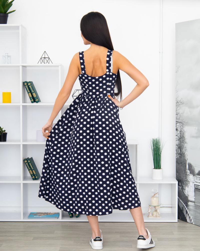 Сукня 9001 бретелька, застібка-гудзики 1-4, колір: синій - 5