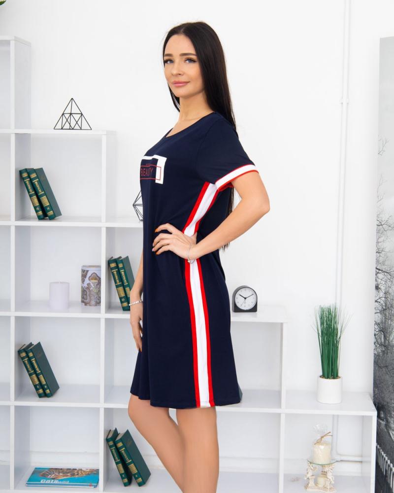 Сукня T326 Milana BEAUTY 48-58, колір: синій - 3