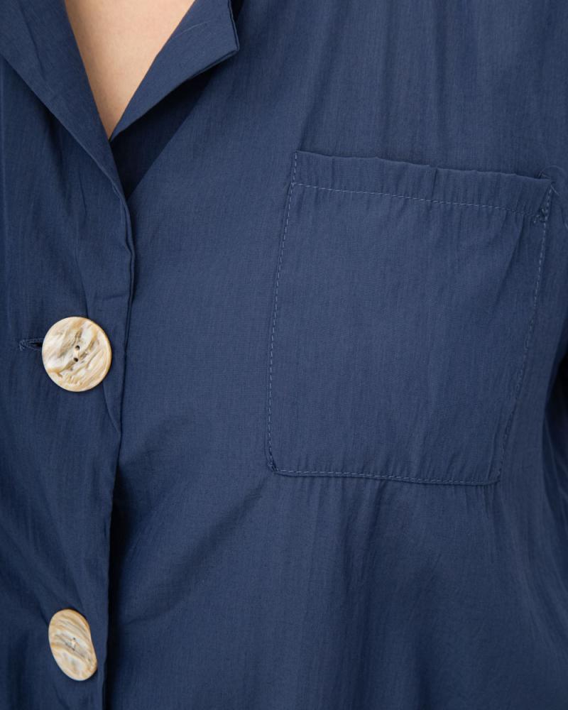 Блузка на ґудзиках і зав'язці р-р: 50 - 54 колір: синiй - 4