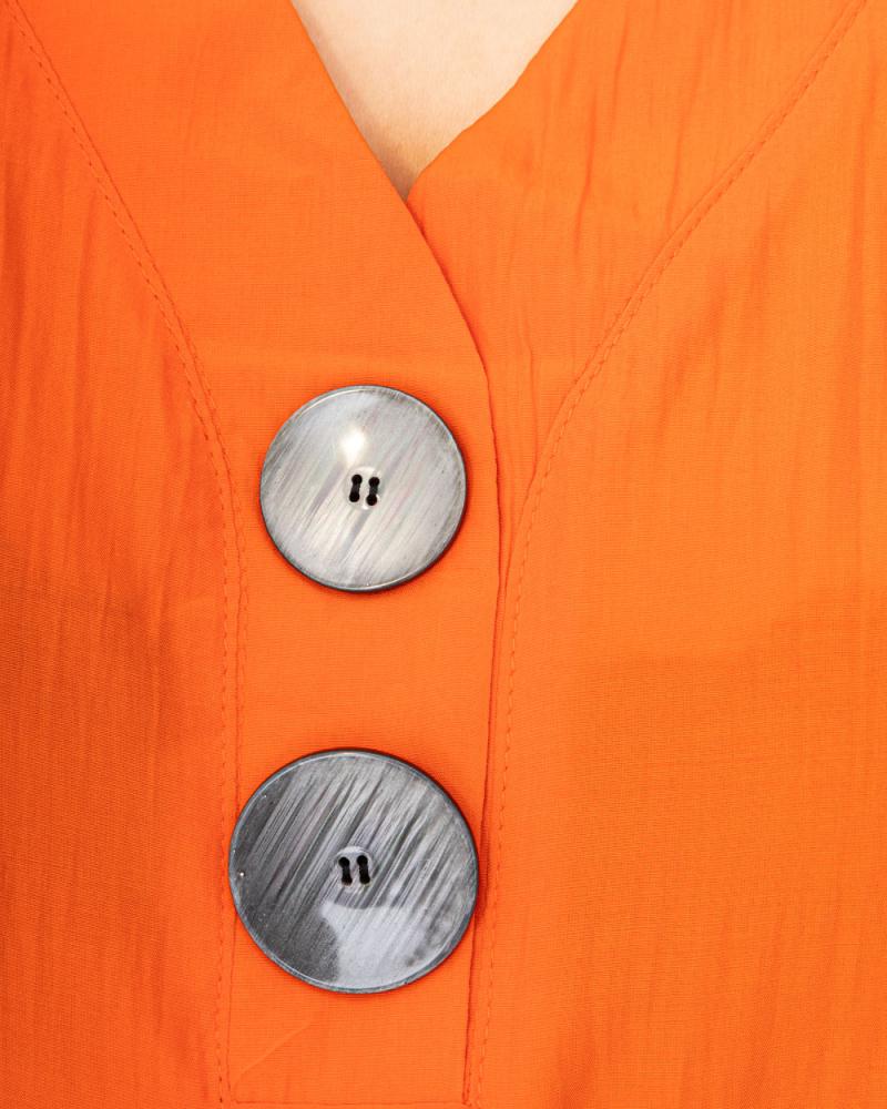 Блузка на двух пуговицах р-р: 50 - 56 цвет: кирпичный - 4