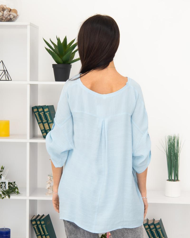 Блузка однотонна 50 - 56, колір: - 4