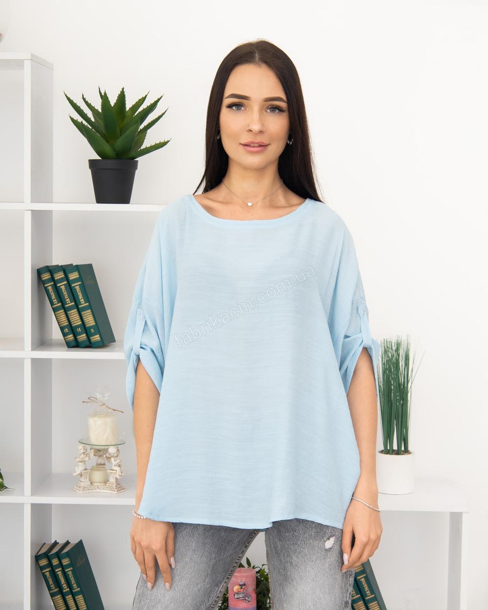 Блузка однотонна 50 - 56, колір: - 1