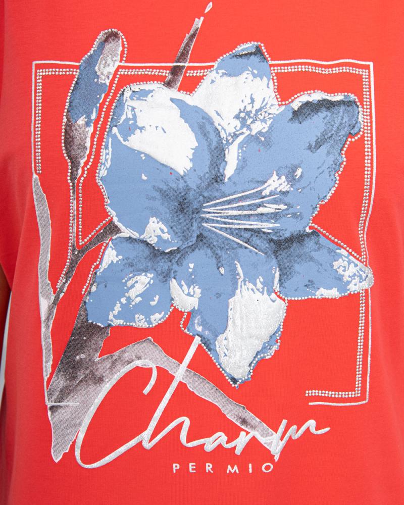Футболка Лилия Sharm шнурок OneSize (р-р: 48-54) цвет: коралловый - 4