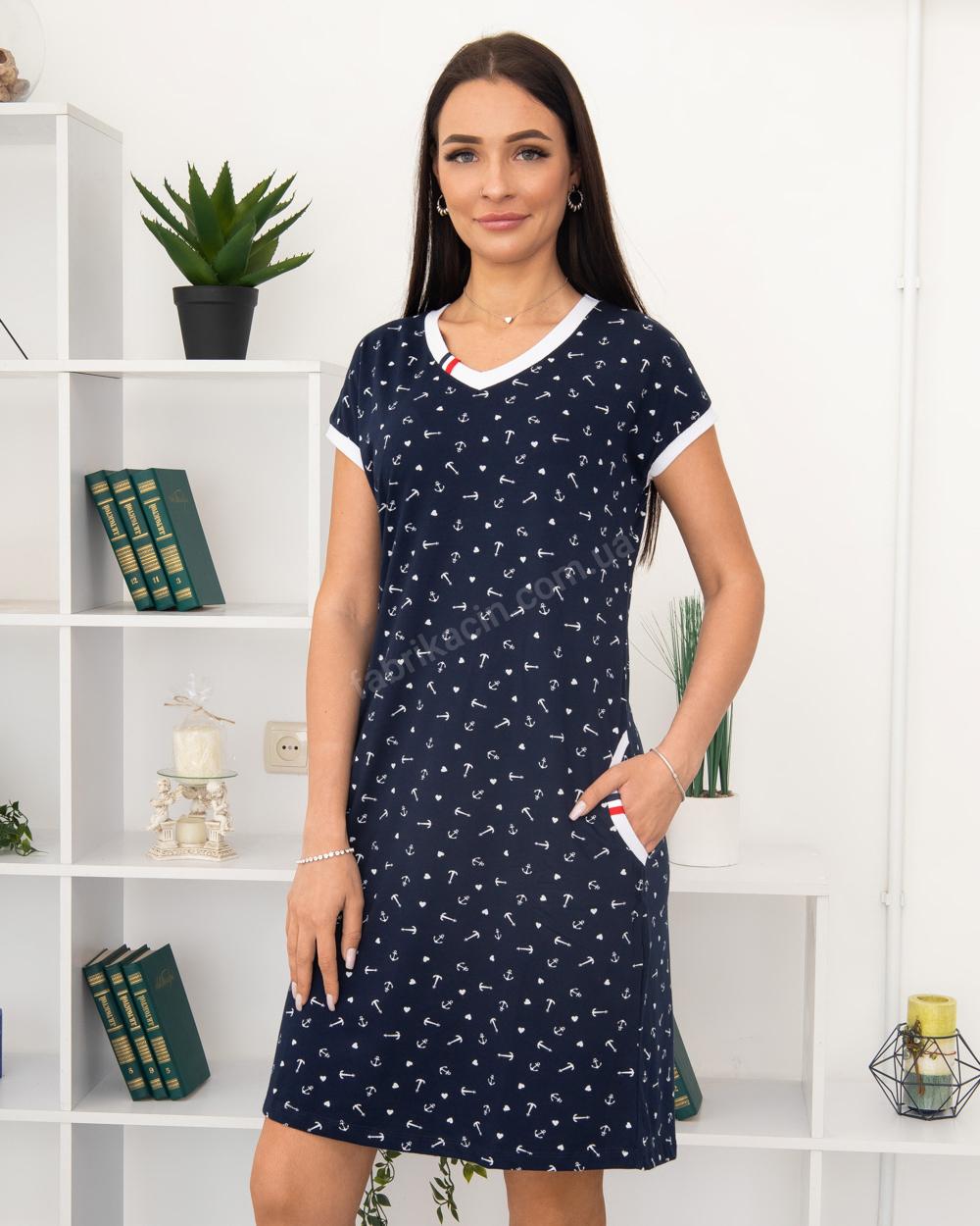 Платье Milvana Якорь, карманы 46-56, цвет: синий - 1