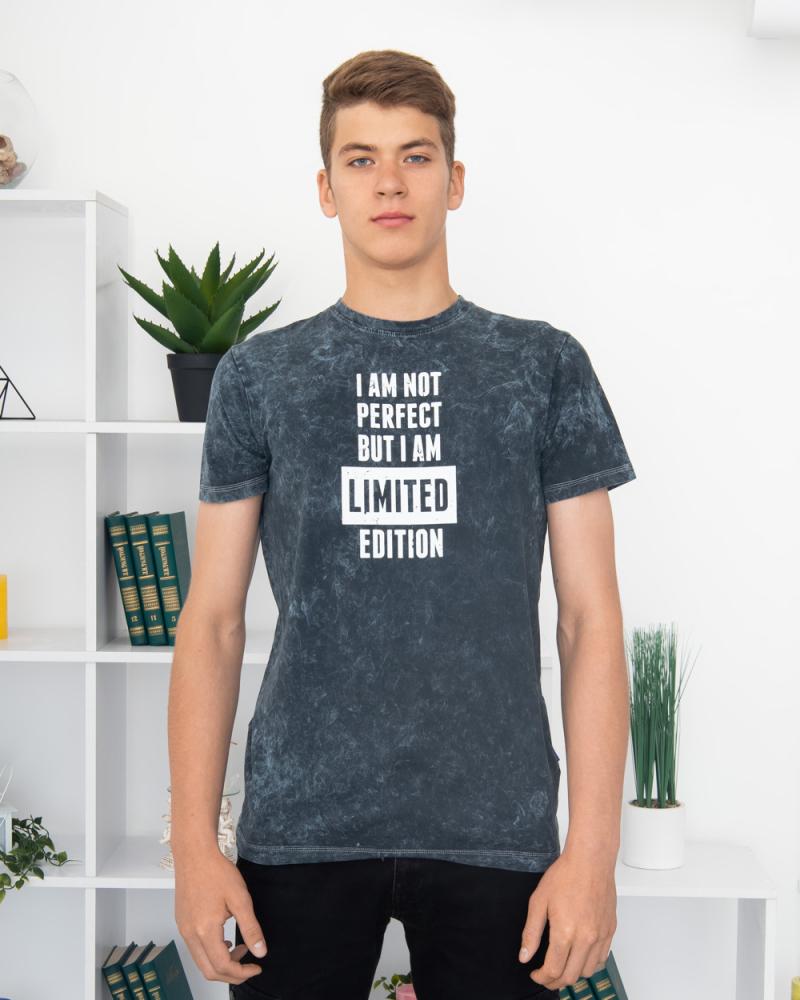 Футболка I AM NOT PERFECT... 44 - 52 колір: джинс - 2