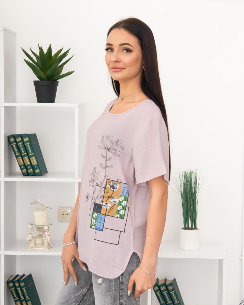 Блузка Польові Квіти 50 - 56, колір: ліловий - 3