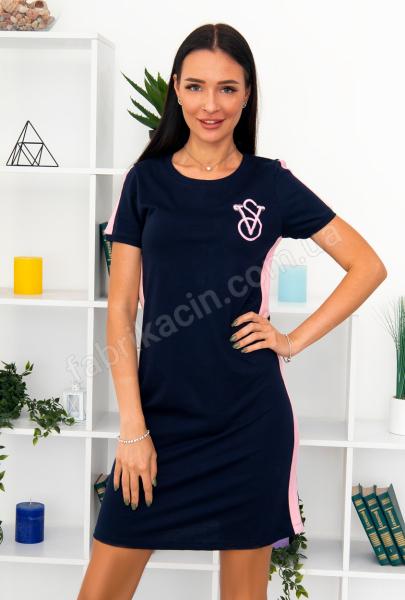Сукня трикотажна Лампас р-р: 46 - 56 колір: синій