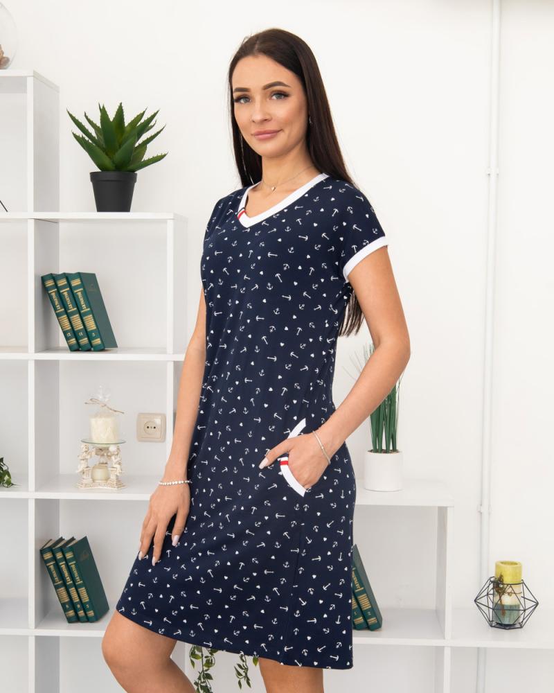 Сукня Milvana Якір, кишені 46-56, колір: синій - 3